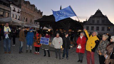 Prounijna manifestacja w Kazimierzu